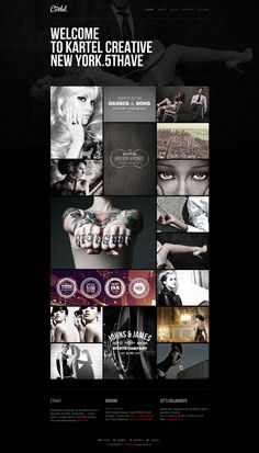 Dark photo gallery  Cartel HTML5 Responsive Photography and Studio Template screenshot blog