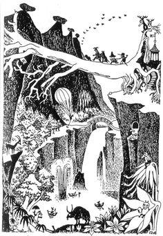 du9 — jalopeura: Favourite Moomin illustrations by...