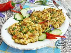 Siekane kotleciki drobiowe z warzywami Fried Rice, I Foods, Fries, Tasty, Cooking, Ethnic Recipes, Blog, Healthy Dinners, Diet