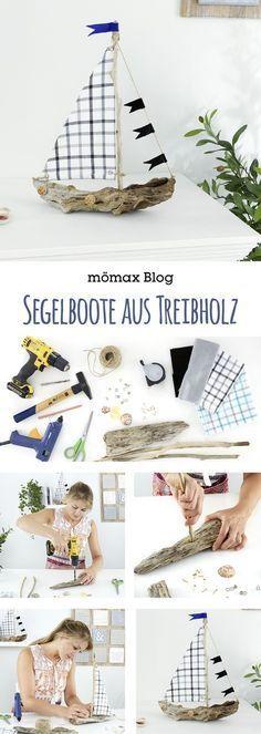 ⛵️ Segelboote aus Treibholz ganz einfach selber mache! Anleitung am mömax Blog