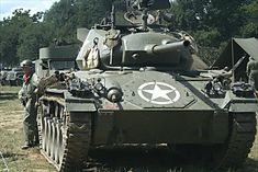 surviving fully restored M24 Chaffee Light Tank is in private ownership and can be seen at military vehicle events like the War and Peace Show throughout Britain