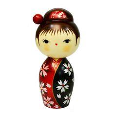 Sosaku Kokeshi Doll Haruka Kimono Girl Made in Japan