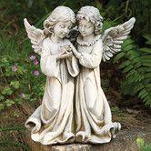 Found it at Wayfair - Angels with Bird Statue