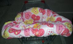 NEW Love Heart Print Flannelette Trolley Cover by BitsandBobs4Bubs, $40.00