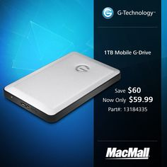 Save $60 on a 1TB GTechnology mobile G-Drive at MacMall.