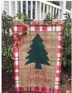Merry Christmas Holiday Tree Embroidered Applique by Justsewso