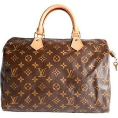 Louis Vuitton Speedy 30, so chic and never goes out of style. Although I will probably never own one... #bags #fashion