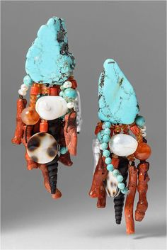 Turquoise Jewelry Is Quite Lovely Stone Jewelry, Jewelry Art, Jewelry Design, Bold Jewelry, Girls Jewelry, Silver Jewellery, Monies Jewelry, Santa Fe Dry Goods, Silver Jewelry Cleaner