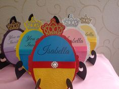 Disney Princess Party Invitations set of 8 Birthday by HappyToons, $24.00