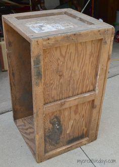 Barn Box Coffee Table Makeover