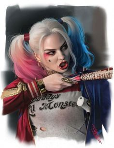 Harley Quinn SS study II - Suicide Squad fan art by Warren Louw Bodybuilder, Arlequina Margot Robbie, Margo Robbie, Harley Quinn Et Le Joker, Dc Comics, Es Der Clown, Daddys Lil Monster, Portraits, Batman Vs Superman