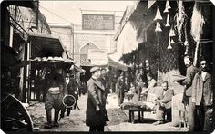 Kapalıçarşı Girişi, 1900'ler #istanlook #nostalji #birzamanlar Historical Pictures, Once Upon A Time, Istanbul, Nostalgia, Street View, City, World, Painting, Vintage