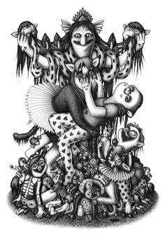 Amandine Urruty : l'épouvantail / mine de plomb sur papier / 100 x 70 cm / 2012 - courtesy arts factory
