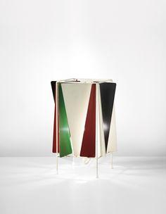 Greta Magnusson-Grossman; Painted Metal Table Lamp for Bergboms, 1953.