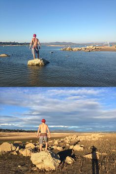 California Drought Before and After.