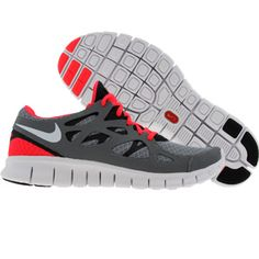 Nike Womens Free Run + 2 (stealth / white / anthracite / solar red)