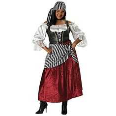 InCharacter Costumes Womens PlusSize Pirates Wench Adult Plus Size Costume BlackBurgundy 3X * You can get more details by clicking on the image.
