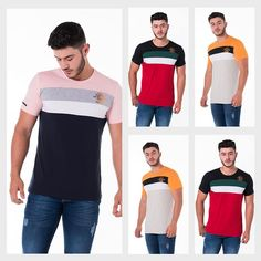 Image may contain: 5 people, people standing Polo Shirt Outfits, Mens Polo T Shirts, Mens Tees, Tee Shirts, Polo Shirt Design, Camisa Polo, Emporio Armani, Leather Skin, Colorful Shirts