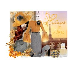 'Sunset In Paris', created by rjaynne on Polyvore