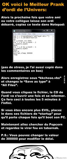 OK here is the best computer prank in the universe: - Manon Do - Pctr UP Best Computer, Techno, Video Humour, Troll Face, Hey Man, Image Fun, Geek Humor, Things To Know, Tecnologia