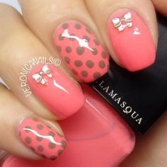 summer nail art 2014 | Hot pink nail art for summer