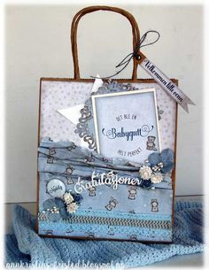 Baby boy decorated gift bag Products from Papirdesign
