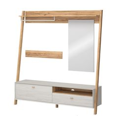 Germania Garderobekast Calvi Combinatie - L195 X B45 X H208 Cm - Wit Bunk Beds, Wardrobe Rack, New Homes, Shelves, House, Furniture, Home Decor, Modern, Cloakroom Basin
