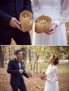 Palomitas de maíz en vuestra boda