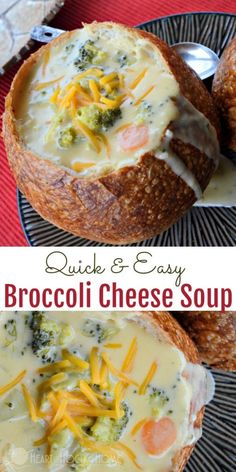 This Quick & Easy Broccoli Cheese Soup is perfect for chilly days, and makes for great leftovers.  #souprecipes #soups #Broccoli #cheese #yum