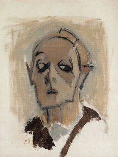 helene schjerfbeck 1945 self-portrait en face 1