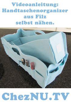 Handtaschenorganizer aus #Filz selbst nähen mit #Videoanleitung…