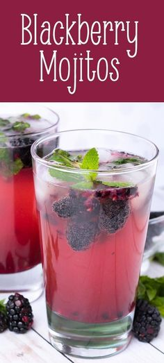 Blackberry Mojitos-Blackberry Mojitos (or mocktails) are a refreshing light spring or #summer #beverage to go along with a summer meal. These #drinks are super easy to mix up and you can make them nonalcoholic by just omitting the rum. Serve them at a bridal shower, at a Fourth of July pool party, or backyard BBQ on Memorial Day. A quick and easy #blackberry #mojito recipe for any party. For more summer dinners, visit www.imperialsugar.com. #imperialsugar