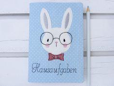 Stickmuster - Stickdatei Schlaubergerhase Hase mit Brille 10x10 - ein Designerstück von Stickherz bei DaWanda
