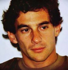Ayrton Senna, one can see it in his eyes, the intensity, the determination, the will.