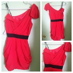 Beautiful coral dress 100% polyester. Never worn...new with tag. Dresses
