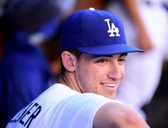 Cody Bellinger Photos - Cody Bellinger of the Los Angeles Dodgers smiles before the game against the New York Mets at Dodger Stadium on June 2017 in Los Angeles, California. - New York Mets v Los Angeles Dodgers Hot Baseball Players, Baseball Guys, Dodgers Baseball, Baseball Outfits, Cody Love, Cody James, Dodgers Girl, Cody Bellinger, Christian Yelich
