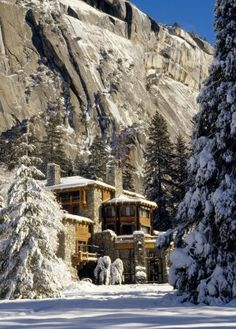 The Ahwahnee, Yosemite National Park ~ Was lucky enough to spend a week there during Xmas/New Years one year.  VERY romantic!