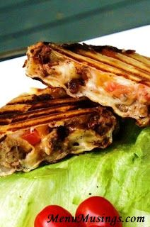 Grilled Cheeseburger Wraps good use for leftover burgers!