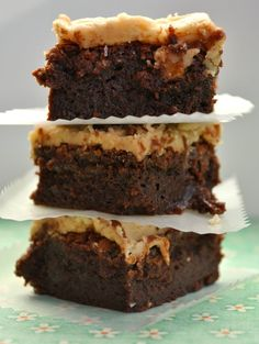 Praline Topped Brownies. Sounds like a good marriage to me!