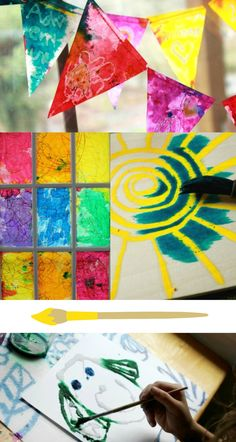 More than 60 great watercolor art activities for kids! Have you tried liquid watercolors yet?
