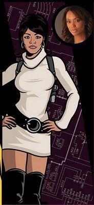 """AISHA TYLER as LANA from """"Archer"""""""