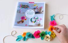 Et oui ! Encore un nouveau livre !  Pour ne pas changer je reste la tête dans le papier … et dans les fleurs ! C'est un sujet qui me plait parce qu'il est inépuisable et quoi de plus joli que de mettre des fleurs et des couleurs dans son intérieur ! Personnellement, mon …