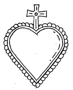 CORAZONES MEXICANOS PLANTILLAS Y DIBUJOS Aluminum Can Crafts, Metal Crafts, Tin Art, Monster Design, Mexican Art, Religious Art, Textile Art, Embroidery Patterns, Coloring Pages