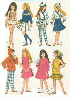 Free Vintage Barbie Sewing Patterns - Yahoo Image Search Results
