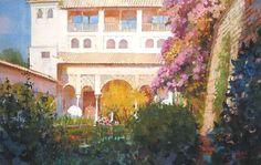 Geoffrey Wynne Acuarelas - Watercolours: GENERALIFE, GRANADA