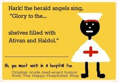 *** See the complete collection of nurse and doctor Christmas medical humor.  You can also purchase this ecard on over 50 popular items (in just a few days) from the Medical Humor Store at http://www.zazzle.com/happyhospitalist*