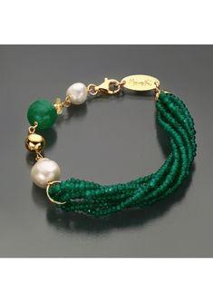 Collar Verde, Diy Jewelry, Jewelery, Verde Smeraldo, Baby Knitting Patterns, Girls Best Friend, Baroque, Turquoise Bracelet, Creations