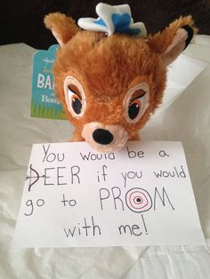 Prom idea! I personally thought of and used this one to ask a boy that likes to hunt to go to prom with me!