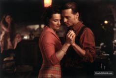 "Johnny Depp dances with Juliette Binoche in ""Chocolat"" (2000)."