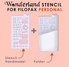 Personalize your planner with these cute transparent STENCIL! This listing includes: 1 stencil made with a transparent film; 1 folder for stencil,